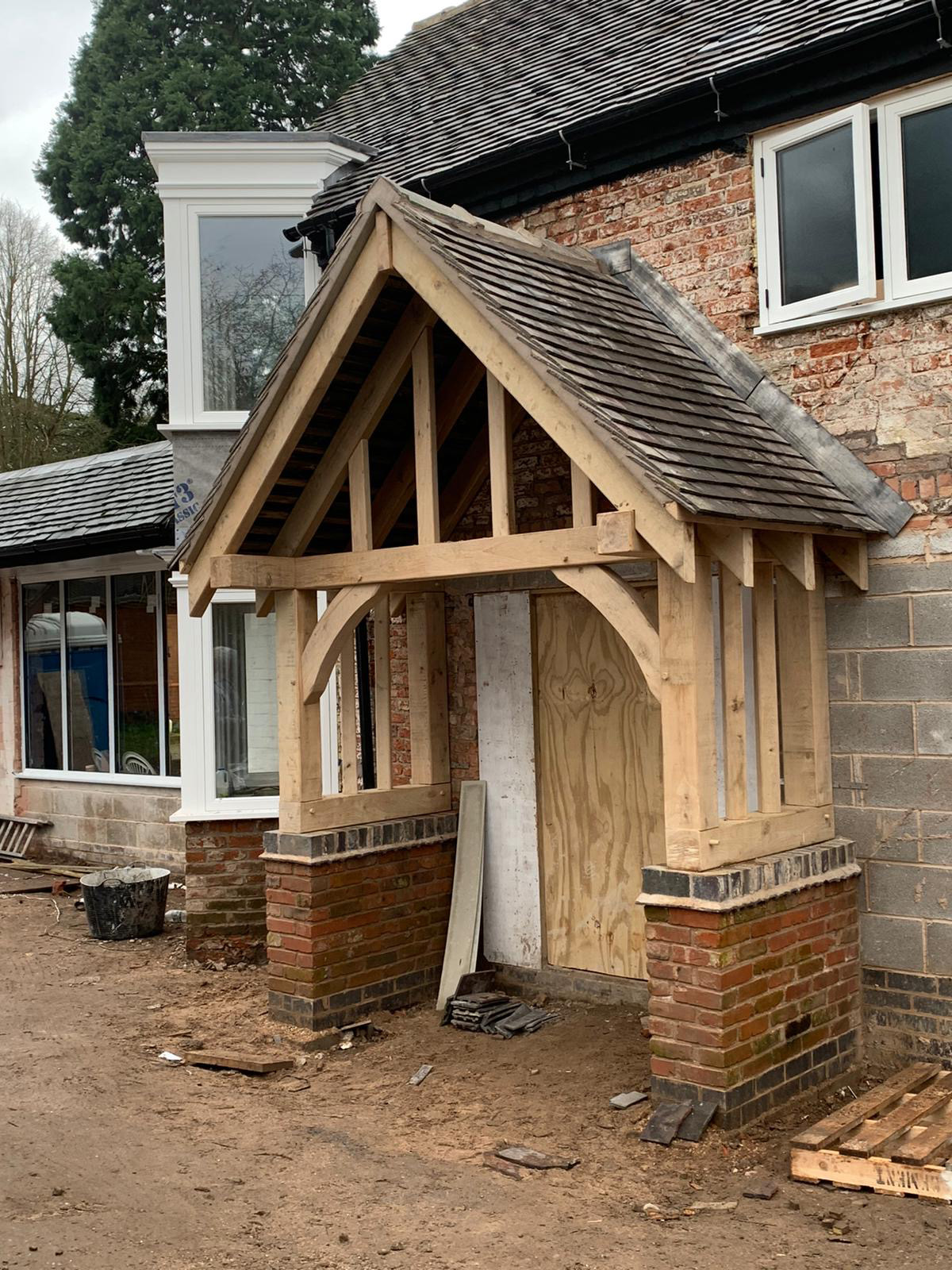 Timber Porch Builders Lichfield Staffordshire